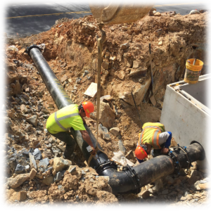 emergency line repairs N.C., Storm Drainage lines installation, sewer lines installation, commercial water line installation